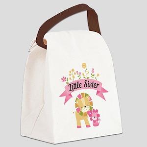Little Sister Lions Canvas Lunch Bag