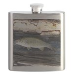 Woody Pittsburgh Smallmouth Bass sqr Flask