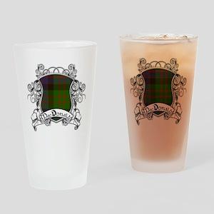 MacDonald Tartan Shield Drinking Glass