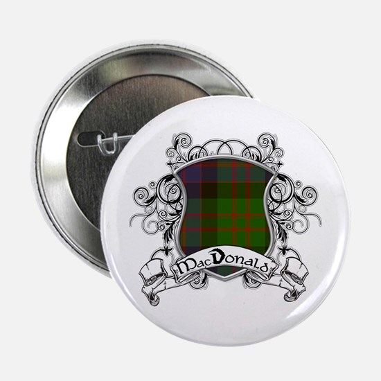 "MacDonald Tartan Shield 2.25"" Button"