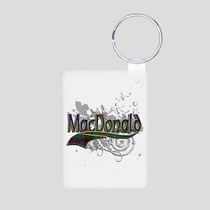 MacDonald Tartan Grunge Aluminum Photo Keychain