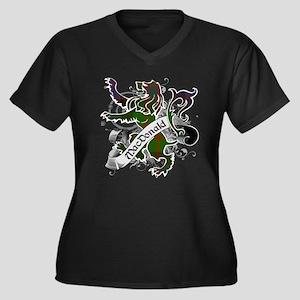 MacDonald Ta Women's Plus Size V-Neck Dark T-Shirt