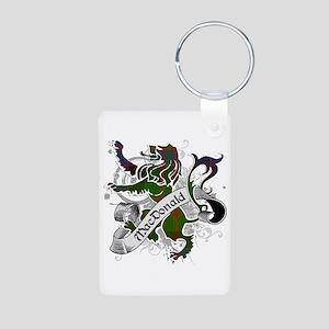 MacDonald Tartan Lion Aluminum Photo Keychain