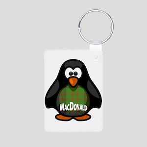 MacDonald Tartan Penguin Aluminum Photo Keychain