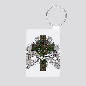 MacDonald Tartan Cross Aluminum Photo Keychain