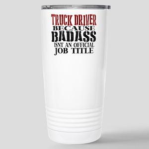 Badass Trucker Travel Mug