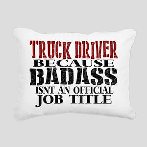 Badass Trucker Rectangular Canvas Pillow