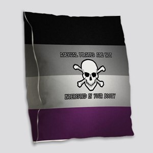 Asexual Pirates Burlap Throw Pillow