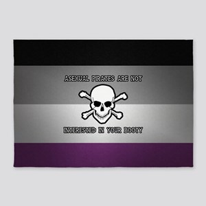Asexual Pirates 5'x7'Area Rug