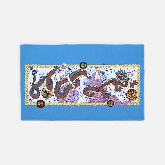 Celestial Dragon Banner 3'x5' Area Rug