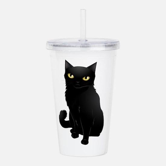 black cat Acrylic Double-wall Tumbler