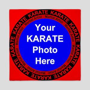 Karate Photo Here Queen Duvet