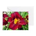 Burgundy Wine Lilies Greeting Cards (Pk of 20)