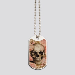 Vintage Rosa Skull Collage Dog Tags