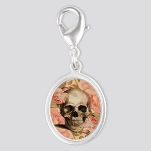 Vintage Rosa Skull Collage Charms