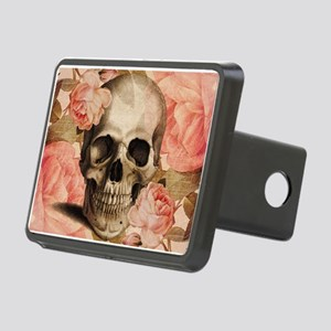 Vintage Rosa Skull Collage Hitch Cover
