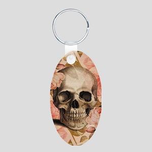 Vintage Rosa Skull Collage Keychains