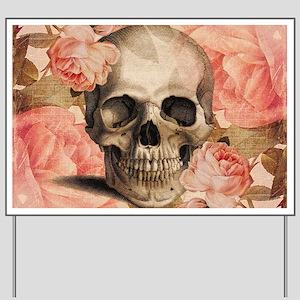 Vintage Rosa Skull Collage Yard Sign