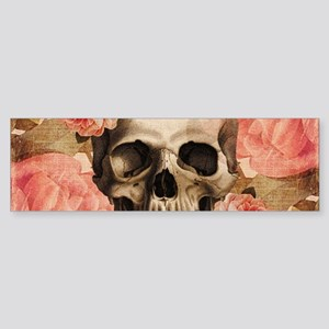 Vintage Rosa Skull Collage Bumper Sticker