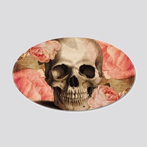 Vintage Rosa Skull Collage Wall Decal