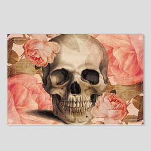 Vintage Rosa Skull Collage Postcards (Package of 8