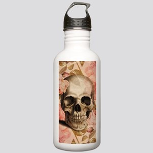 Vintage Rosa Skull Collage Water Bottle