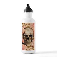 Vintage Rosa Skull Collage Water Bottle