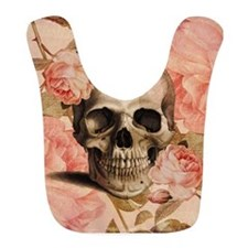 Vintage Rosa Skull Collage Bib