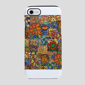 Colorful Floral Patchwork iPhone 7 Tough Case
