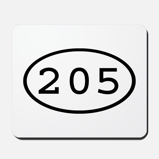 205 Oval Mousepad