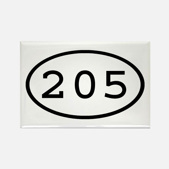 205 Oval Rectangle Magnet