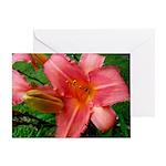Flamingo Pink Lily Greeting Card