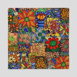 Colorful Floral Patchwork Queen Duvet