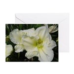Snowy White Lilies Greeting Card