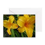 Sunburst Lilies Greeting Card