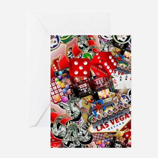 Las Vegas Icons - Gamblers Delight Greeting Cards