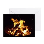Campfire . Give your reader a few m Greeting Card