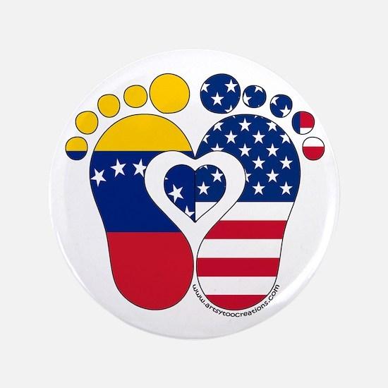 "Venezuelan American Baby 3.5"" Button"