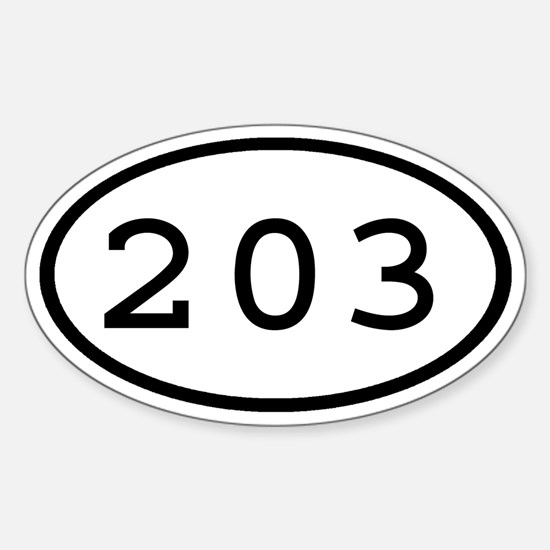 203 Oval Oval Decal