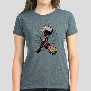 Marvel Comics Thor Hammer Ret Women's Dark T-Shirt