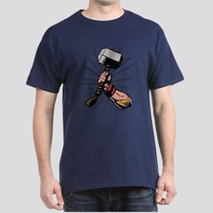Marvel Comics Thor Hammer Retro Dark T-Shirt
