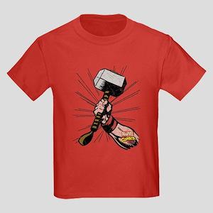 Marvel Comics Thor Hammer Retro Kids Dark T-Shirt