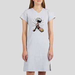 Marvel Comics Thor Hammer Retro Women's Nightshirt