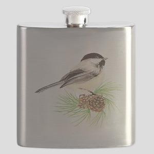 Chickadee Pine Flask