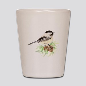 Chickadee Pine Shot Glass
