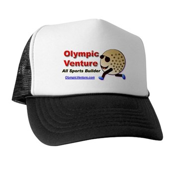 Trucker Hat with Golf Ball Cartoon