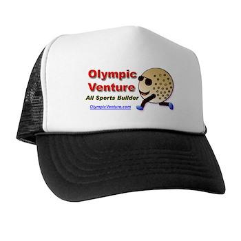 Trucker Hat with Golf Ball Cartoon