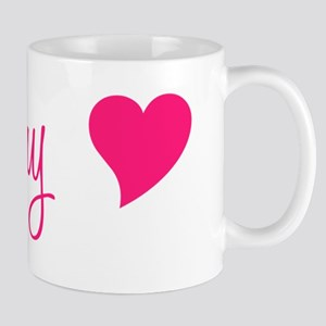 Grammy With Heart Hot Pink Mug