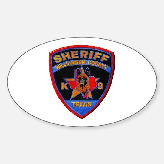 Williamson Sheriff K9 Decal