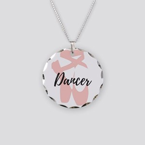 Dancer Necklace Circle Charm